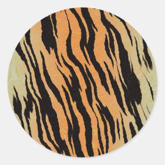 Sticker Rond Motif de tigre
