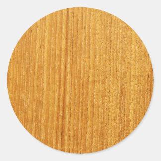 Sticker Rond Motif en bois de grain