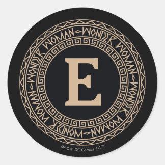 Sticker Rond Motif tribal de femme de merveille