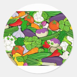 Sticker Rond Motif végétal