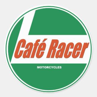 Sticker Rond Motos de coureur de Café