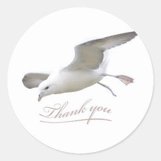 Sticker Rond Mouette d'ailes de Merci