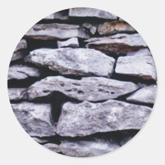 Sticker Rond mur empilé de roche