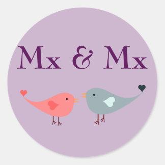 Sticker Rond MX et MX (mariage)