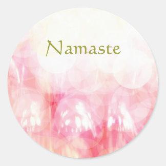 Sticker Rond Namaste