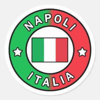 Sticker Rond Napoli Italie
