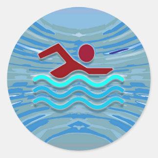 Sticker Rond Natation de la forme physique NVN254 d'exercice de
