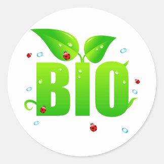 Sticker Rond Naturel organique biologique vert