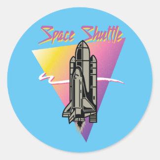 Sticker Rond Navette spatiale