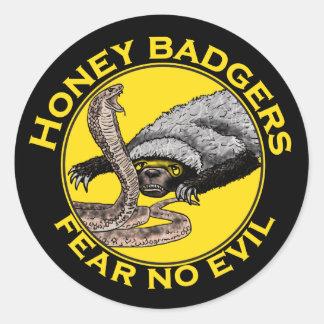 Sticker Rond Ne craignez aucune conception animale d'art de