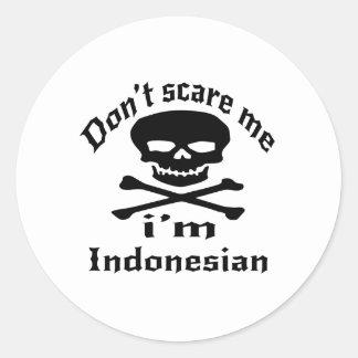 Sticker Rond Ne m'effrayez pas que je suis indonésien