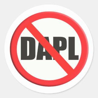Sticker Rond Ne signez aucune canalisation d'accès de DAPL
