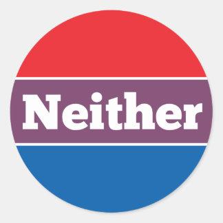 Sticker Rond Ni l'un ni l'autre candidat politique