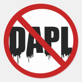 Sticker Rond #NoDAPL