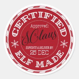 Sticker Rond Noël | a certifié Elf fait