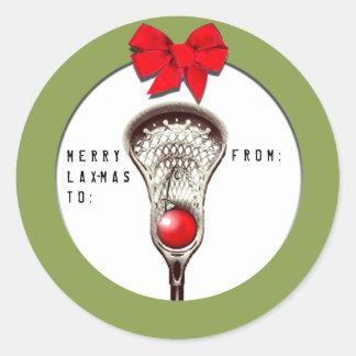 Sticker Rond Noël de lacrosse