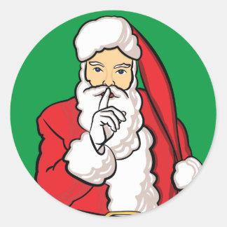Sticker Rond Noël le père noël