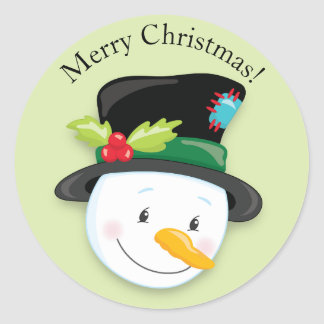 Sticker Rond Noël noir de sourire de casquette supérieur de