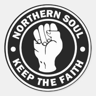 Sticker Rond noir du nord de logo d'âme