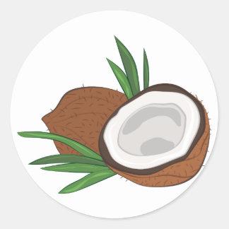 Sticker Rond Noix de coco