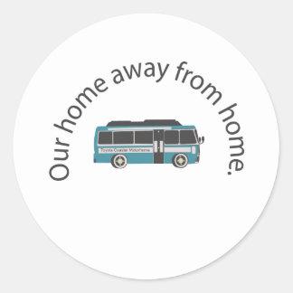 Sticker Rond non domestique à la maison rond
