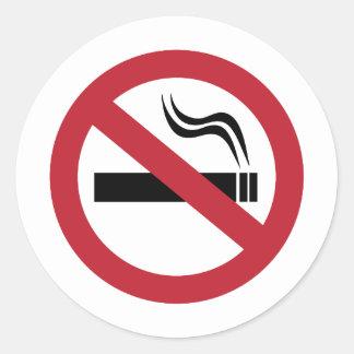 Sticker Rond Non-fumeurs