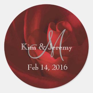 Sticker Rond Nos économies romantiques d'amour la date