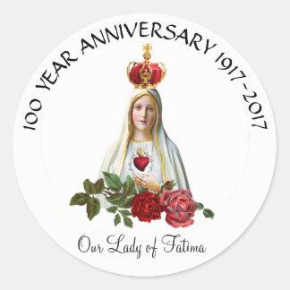 Sticker Rond Notre Madame d'anniversaire de couronne de