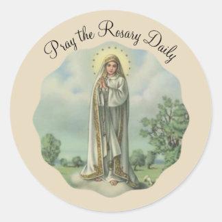 Sticker Rond Notre Madame de Fatima