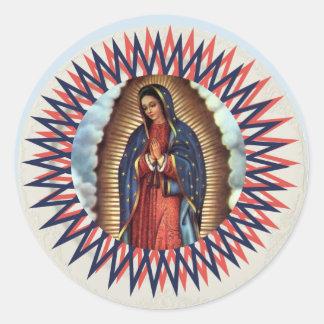 Sticker Rond Notre Madame de Guadalupe