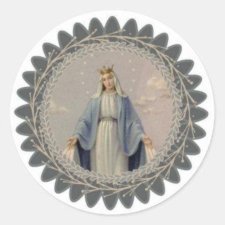 Sticker Rond Notre Madame de Vierge Marie béni par grâce