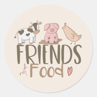 Sticker Rond Nourriture 2 d'amis pas