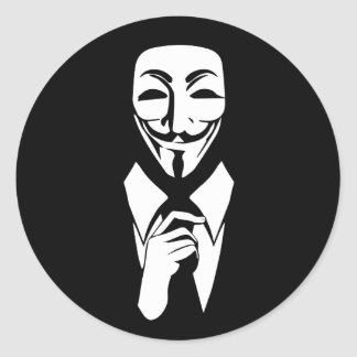 Sticker Rond Nous sommes anonymes