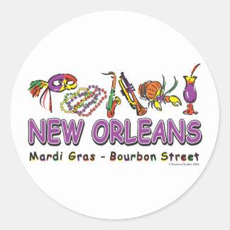 Sticker Rond Nouveau-Orléans-Amusement