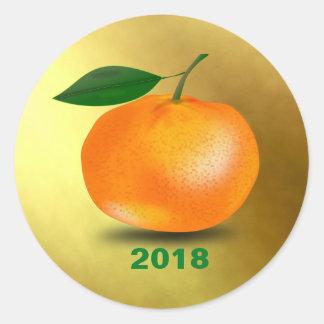 Sticker Rond Nouvelle année chinoise 2018