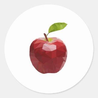 Sticker Rond Nouvelle pomme
