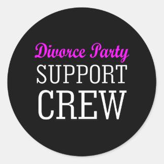 Sticker Rond nouvellement simple cassez la partie de divorce