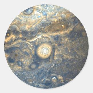 Sticker Rond Nuages de Jupiter