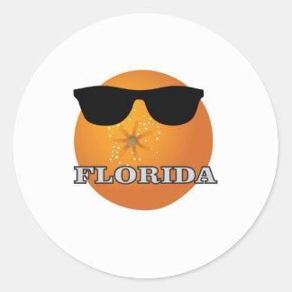Sticker Rond nuances de la Floride