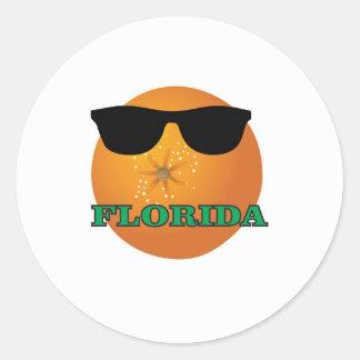 Sticker Rond nuances vertes de la Floride