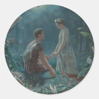 Sticker Rond Nuit d'été Hermia et Lysander