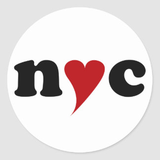 Sticker Rond nyc with heart