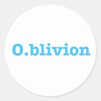 Sticker Rond O.blivion