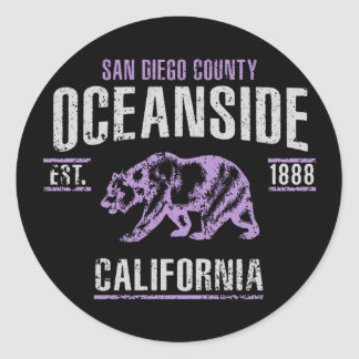 Sticker Rond Oceanside