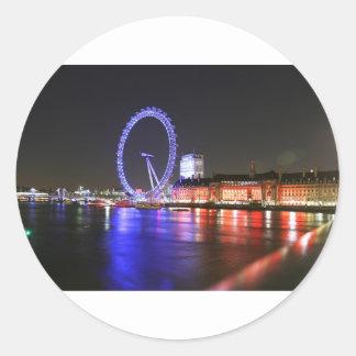 Sticker Rond Oeil de Londres la nuit