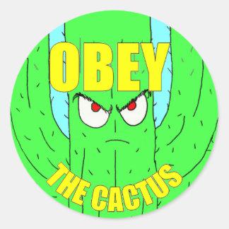 Sticker Rond Ohbey l'autocollant rond de cactus