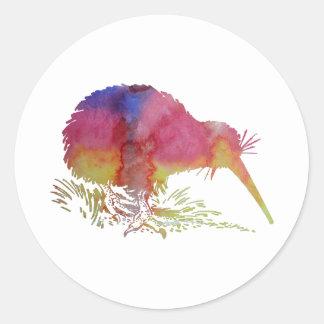 Sticker Rond Oiseau de kiwi