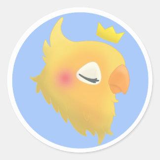 Sticker Rond Oiseau royal