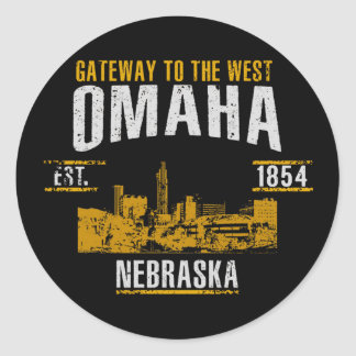 Sticker Rond Omaha