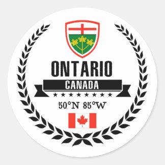 Sticker Rond Ontario